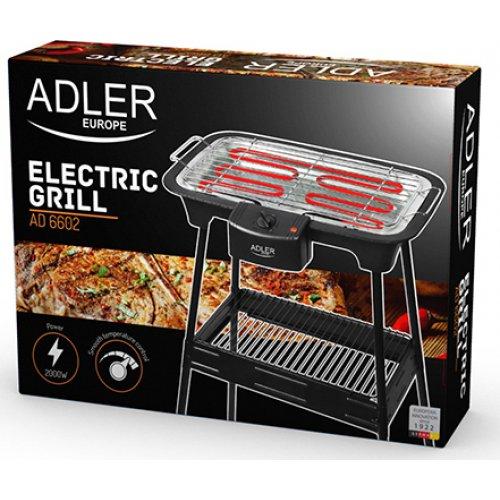 ADLER AD-6602 Ηλεκτρικό Μπάρμπεκιου-Γκριλ με Βάση 2000W 0022257