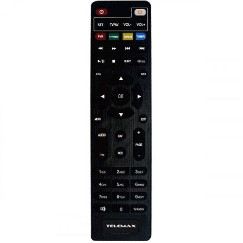 "TELEMAX TX-265 H.265 HEVC/DVBT-T2 Επίγειος Ψηφιακός Δέκτης με ""Διπλό"" Τηλεχειριστήριο για TV/ Δέκτη 0022327"
