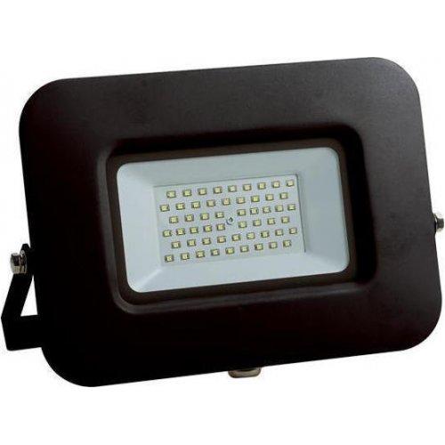EUROLAMP 147-69331 Προβολέας LED SMD ΒΑΣΗ 360° PLUS 50W Μαύρος IP65 6500K PLUS 0022337