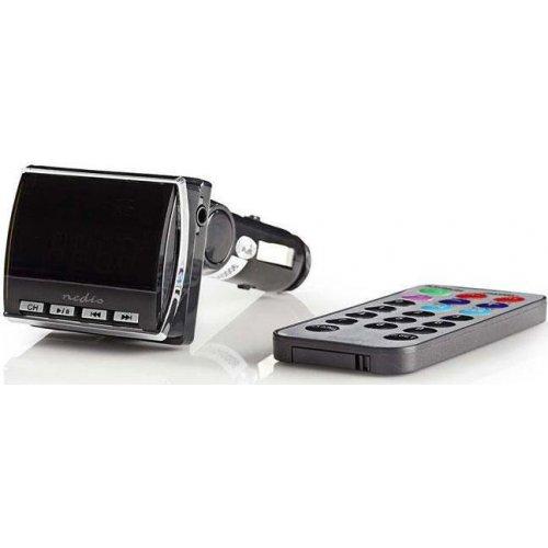 NEDIS CATR200BK Αναμεταδότης FM με Οθόνη LCD, Υποδοχή Κάρτας microSD και Τηλεχειριστήριο