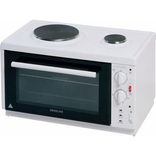 DAVOLINE EC 350 CHEF Ηλεκτρικό Φουρνάκι με 2 Εστίες 28lt - 3100W Λευκό 0022844