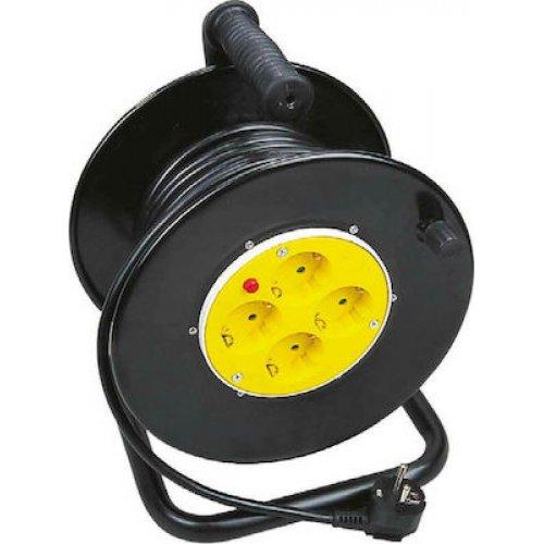 FERRARA 147-47045 Μπαλαντέζα Καρούλι IP20 3x1.5mm - 25m - Προστασία Υπερθέρμανσης & Παιδική Προστασία 0023072