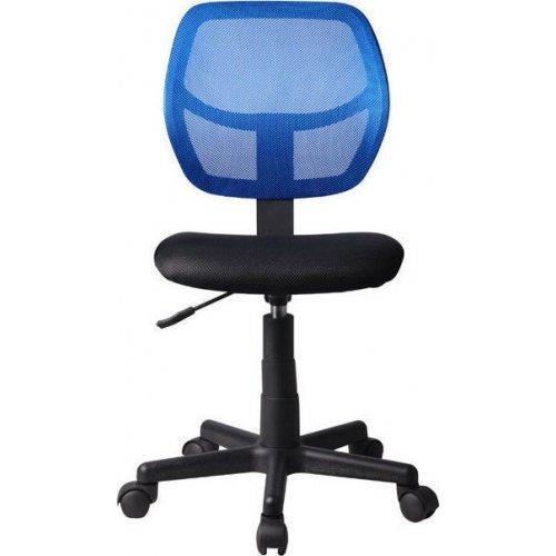 FYLLIANA 093-27-101 Καρέκλα Γραφείου Χωρίς Μπράτσα 5156Ρ Μαύρη/Μπλέ 41χ52χ80/92 0023137