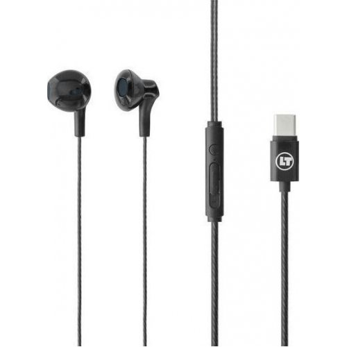 LAMTECH LAM021127 TYPE-C Smartphone Earphones With Mic Black 0023178