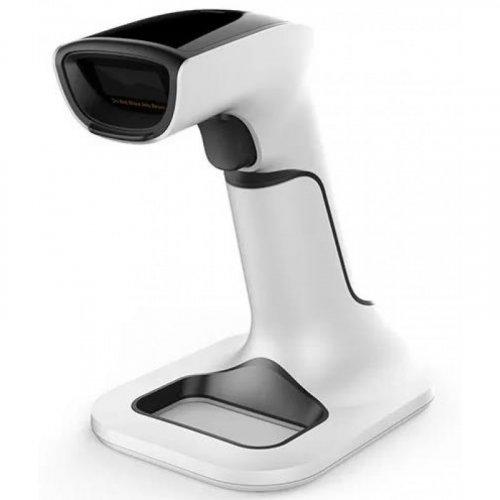 NG NG-6510 Ασύρματο 2D Barcode Scanner με Βάση Φόρτισης Μαύρο & Λευκό