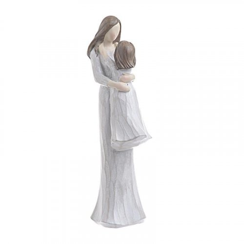 INART 3-70-328-0003 Επιτραπέζιο Διακοσμητικό Μητέρα/Παιδί Polyresin Εκρού 8χ10χ26εκ. 0023258