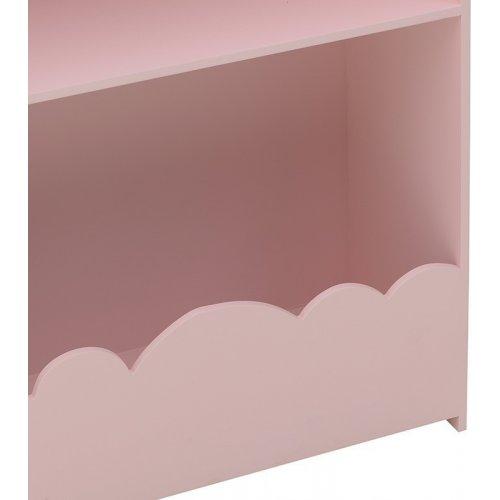 INART 3-50-876-0012 Ραφιέρα Σπιτάκι Ξύλινη Ροζ 80Χ25Χ105