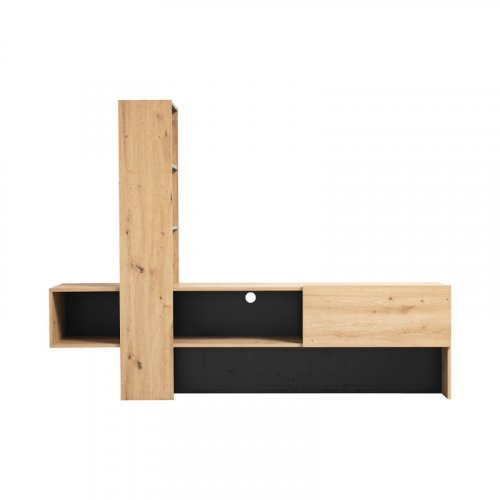 FORMA IDEALE 11008243 Έπιπλο Τηλεόρασης Orense Artisan Oak / Μαύρο 185.5χ36.5χ138.5εκ. 0023293