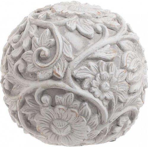 INART 3-70-259-0022 Διακοσμητική Μπάλα Τσιμεντένια Αντικέ Γκρι Δ14χ13εκ. 0023297
