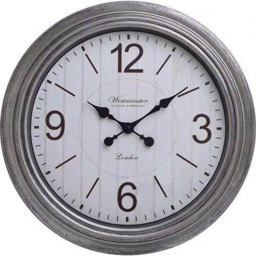 INART 3-20-864-0120 Ρολόι Τοίχου Pl Αντικέ Ασημί Δ52χ6εκ.