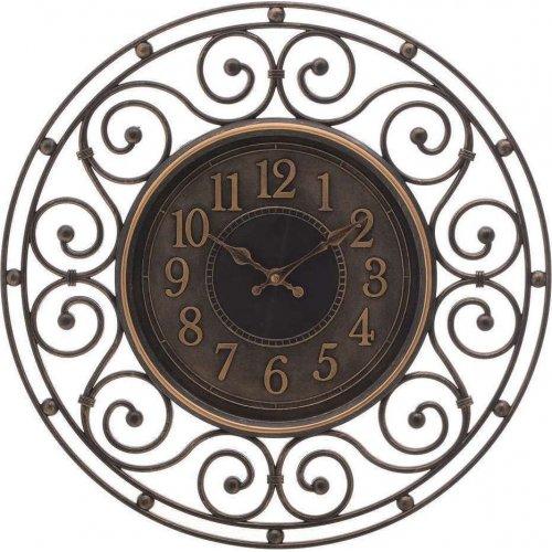 INART 3-20-828-0116 Ρολόι Τοίχου Pl Αντικέ Χρυσό/Μαύρο Δ46εκ.