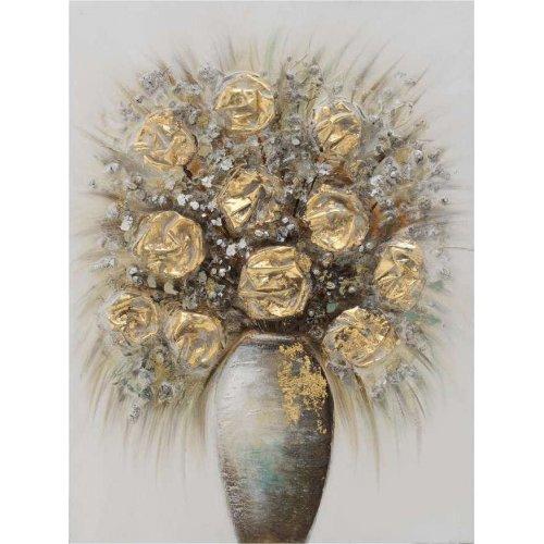 INART 3-90-519-0176 Πίνακας Καμβάς Βάζο Λουλουδιών 60χ80