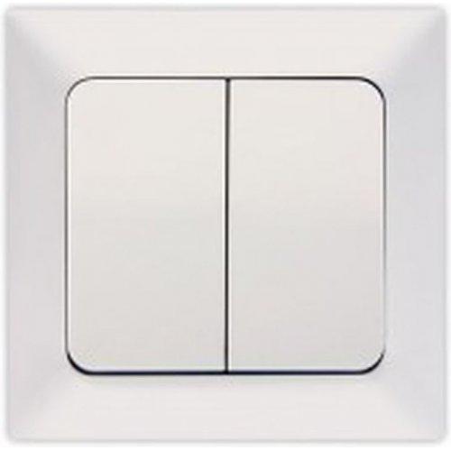 EUROLAMP 152-12004 Διακόπτης A/R-K/R Λευκός 0023371