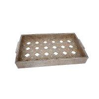 ETIQUETTE 1-266-92-390 Δίσκος Σερβιρίσματος Ασημί 0023380