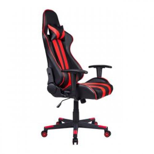 FYLLIANA 387-00-004 Καρέκλα Gaming SAR-12 Μαύρο-Κόκκινο Τεχνόδερμα 64χ53χ135