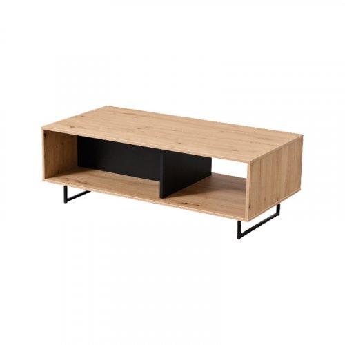 FORMA IDEALE 11008236 Sardinia Τραπεζάκι Σαλονιού Artisan Oak / Μαύρο 120x60x42 εκ 0023572