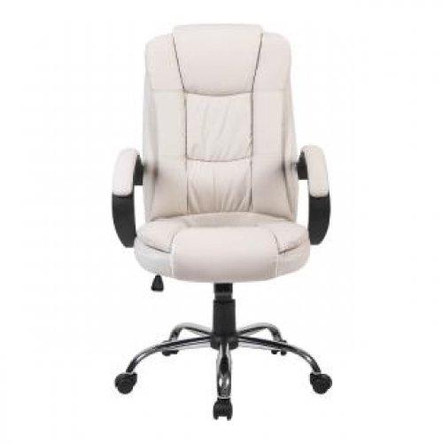 FYLLIANA 387-00-010 Καρέκλα Γραφείου 2043 Λευκό Τεχνόδερμα 63.5χ68χ121