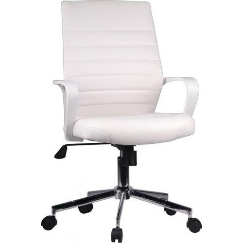 FYLLIANA 093-27-114 Καρέκλα Γραφείου Λευκή Δερμάτινη 5568L 57χ60χ92.5/100
