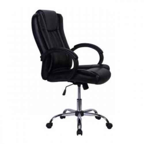 FYLLIANA 387-00-008 Καρέκλα Γραφείου 2043 Μαύρο Τεχνόδερμα 63.5χ68χ121
