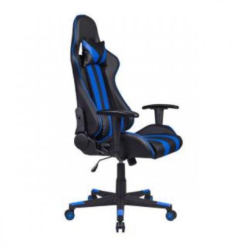 FYLLIANA 387-00-005 Καρέκλα Gaming SAR-12 Μαύρο-Μπλέ Τεχνόδερμα 64χ53χ135 web