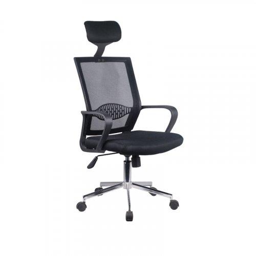 FYLLIANA 093-92-122 Καρέκλα Γραφείου 5628 Μαύρο Καθίσμα-Μαύρη Πλάτη 58χ61χ116/126 0023609