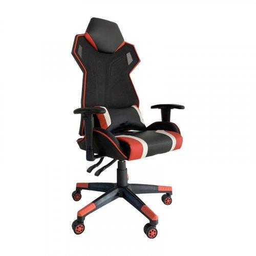 FYLLIANA 388-00-001 Καρέκλα Gaming D-01 Τεχνόδερμα Μαύρη-Κόκκινη 53χ47χ127 web