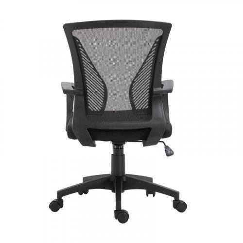 FYLLIANA 388-00-005 Καρέκλα Γραφείου W-05 Μαύρη Πλάτη-Μαύρο Κάθισμα 57χ65χ91