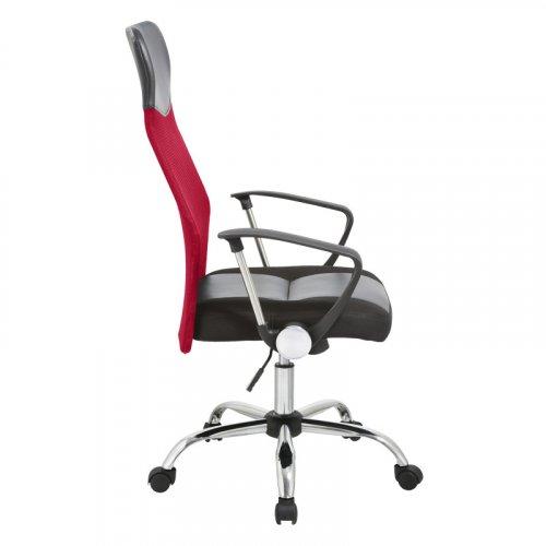 FYLLIANA 387-00-002 Καρέκλα Γραφείου 4006 Κόκκινη Πλάτη-Μαύρο Κάθισμα 59χ60χ120