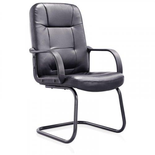 FYLLIANA 093-92-127 Καρέκλα Επισκέπτη 6026 Μαύρο Τεχνόδερμα 61χ58χ101