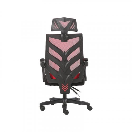 FYLLIANA 388-00-003 Καρέκλα Γραφείου W-09 Κόκκινη Πλάτη-Μαύρο Κάθισμα 60χ60χ114 Web