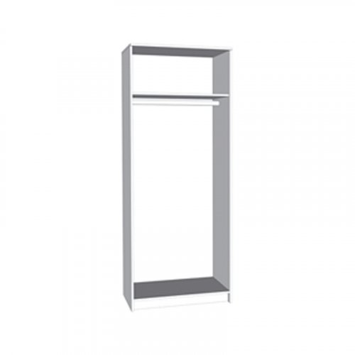 FORMA IDEALE 11009044 Ντουλάπα Hana 2Κ Grey Oak 80x52x205