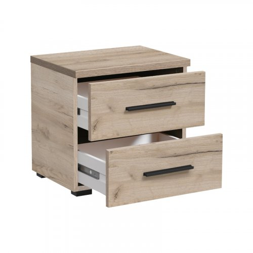 fFORMA IDEALE 11008350 Κομοδίνο DADO NO2F Grey Oak 44,5x33,5x43