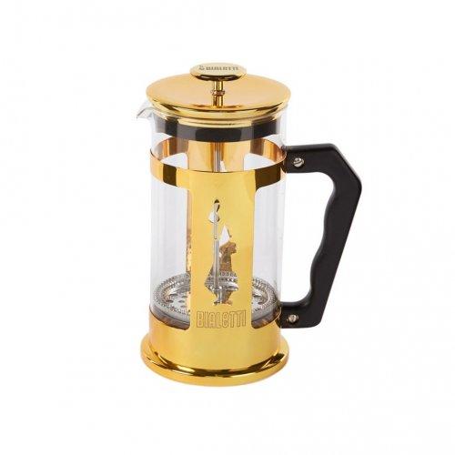 BIALETTI PREZIOSA Καφετιέρα Γαλλικού Χειροκίνητη (coffee press) 1000ml (8 Κούπες) Gold - (0006850) 0023677