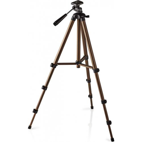 NEDIS TPOD2100BZ Τρίποδας Αλουμινίου με max Ύψος 128 cm για Φωτογραφικές Μηχανές και Βιντεοκάμερες