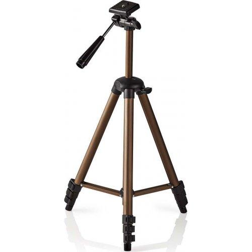 NEDIS TPOD2100BZ Τρίποδας Αλουμινίου με max Ύψος 128 cm για Φωτογραφικές Μηχανές και Βιντεοκάμερες 0023718