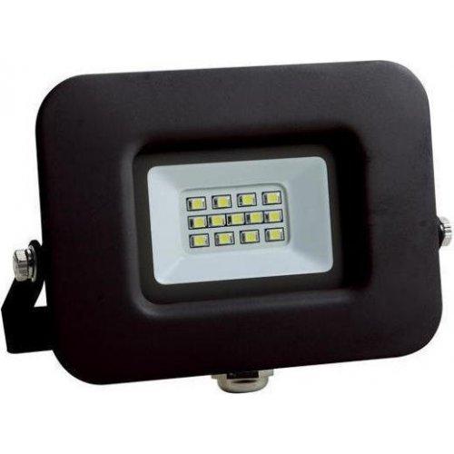 EUROLAMP 147-69313 Προβολέας LED SMD Βάση 360° Plus 10W Μαύρος IP65 6500K PLUS 0023751