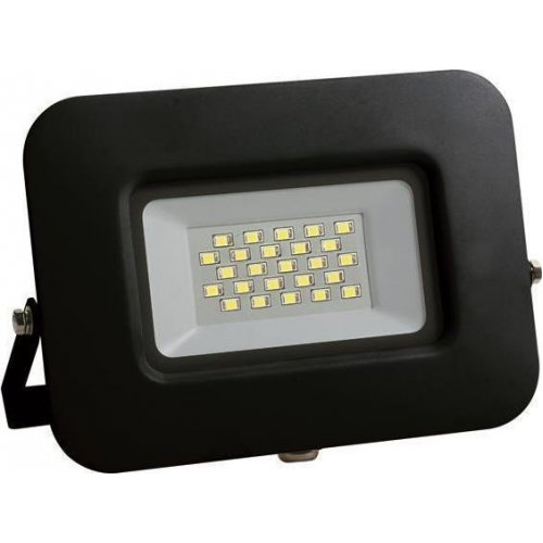 EUROLAMP 147-69319 Προβολέας LED SMD Βάση 360° PLUS 20W Μαύρος IP65 6500K PLUS 0023752