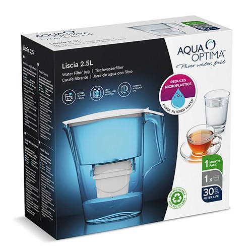 Aqua Optima Liscia FJ0638 2.5Ltr Κανάτα Φιλτραρίσματος + 1 φίλτρο Evolve+ 30 Ημερών 0023967