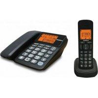 UNIDEN AT-4503 Ασύρματο & Ενσύρματο Τηλέφωνο Combo Μαύρο
