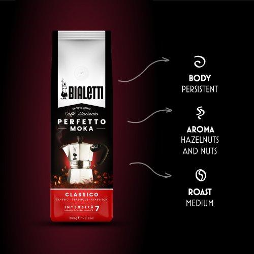 BIALETTI 096080318 PERFETTO MOKA CLASSICO Καφές Espesso 250gr - Made in Italy 0024611
