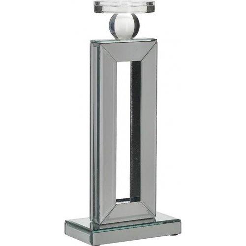 INART  3-70-427-0025 Κηροπήγιο Με Καθρέπτη  Nickel 0026017