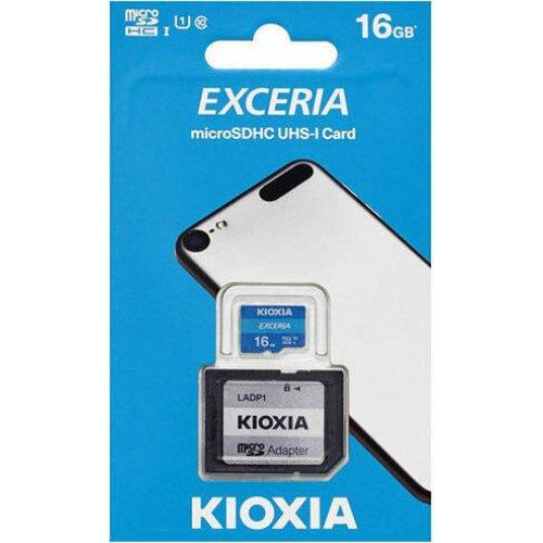 KIOXIA LMEX1L016GG2 Exceria memory card 16 GB MicroSDHC Class 10 UHS-I 0025038