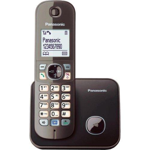 PANASONIC KX-TG6811GRA Ασύρματο Τηλέφωνο Χρώματος Καφέ 0025084