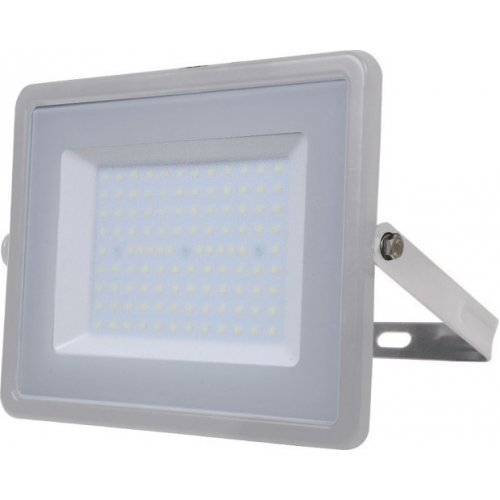 V-TAC 474 Προβολέας LED Samsung chip 100W Λευκό 6400K Γκρι Σώμα 0025135