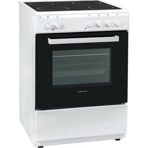 UNITED UFV-60276 Κουζίνα Λευκή Κεραμική