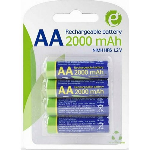 ENERGENIE EG-BA-AA20R4-01 Rechargeable AA Instant Batteries Ready To Use 2000mAh 4PCS Blister 0025526