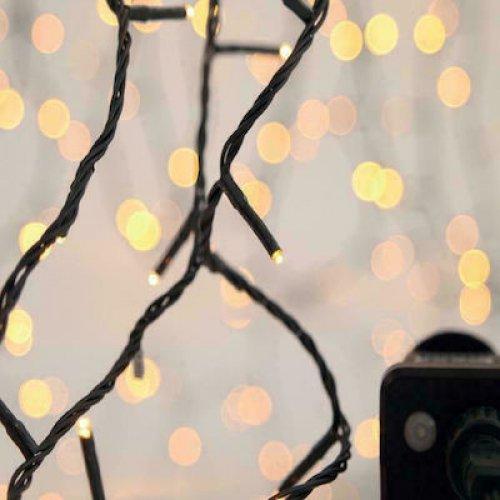 EUROLAMP 600-11596 Χριστουγεννιάτικα Λαμπάκια 900 LED Θερμά Λευκά 3mm Σειρά, Πράσινο Καλώδιο Ρεύματος 44.95m 0025559