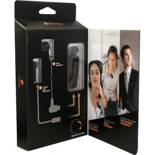 IXCHANGE UA-28QT-V Retractable Bluetooth Headset Μαύρο 0025570