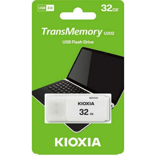KIOXIA LU202W032GG4 Flash Stick 32GB Hayabusa WHITE 0025599