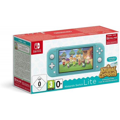 NINTENDO HDH-S-BAZLA Switch Console Lite Turquise & Crossing Animal 32GB (5.5 ?) Οθόνη αφής 32 GB Wi-Fi 14 cm + Animal Crossing 0025770